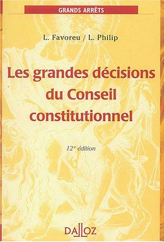 Download Les grandes décisions du Conseil constitutionnel