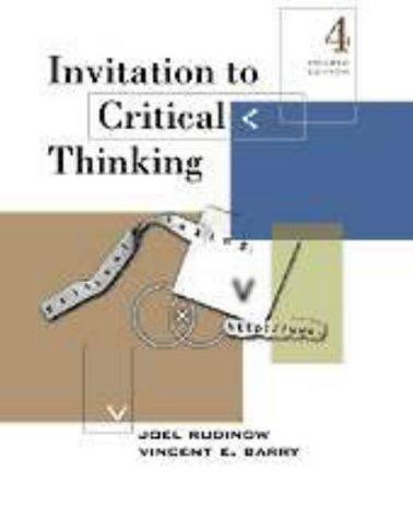 Download Invitation to critical thinking