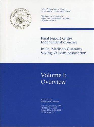 Download Final report of the independent counsel in re–Madison Guaranty Savings & Loan Association