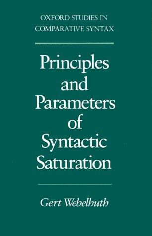 Download Principles and parameters of syntactic saturation
