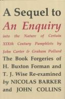 Download An enquiry into the nature of certain nineteenth century pamphlets