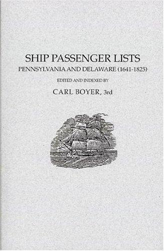 Image for Ship Passenger Lists, Pennsylvania and Delaware (1641-1825)