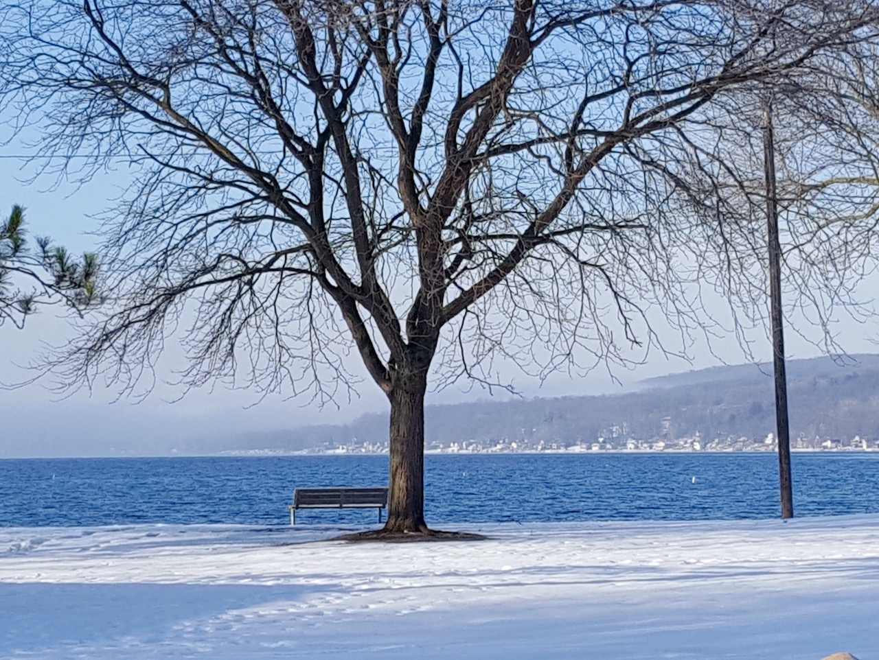 'Fifty Shades' of Blue over Keuka Lake (photo)