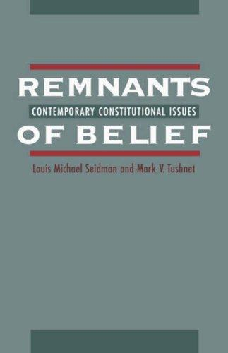 Remnants of belief by Louis Michael Seidman