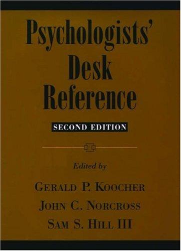 Psychologists' desk reference by