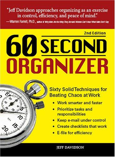 60 Second Organizer by Jeff Davidson